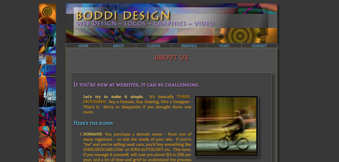 RustyDogg Design Web Client: Boddi Web Design